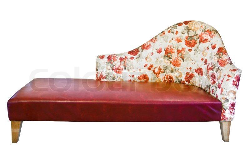 vintage sofa isolated on white background