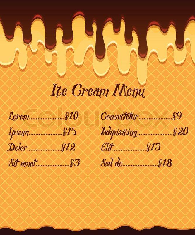 Popular Ice Cream Wallpaper Buy Cheap Ice Cream Wallpaper: Ice Cream Menu Or Price Poster On ...