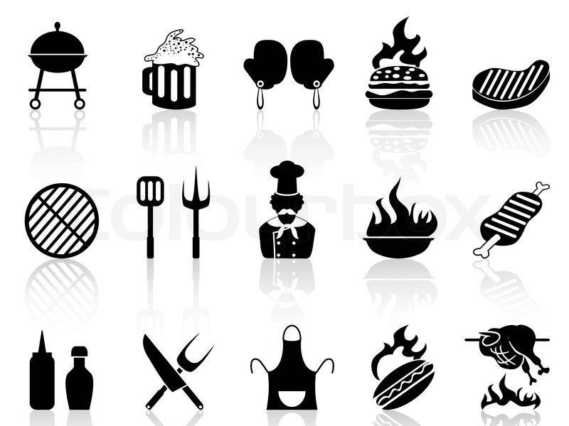 grill symbole stock vektor. Black Bedroom Furniture Sets. Home Design Ideas