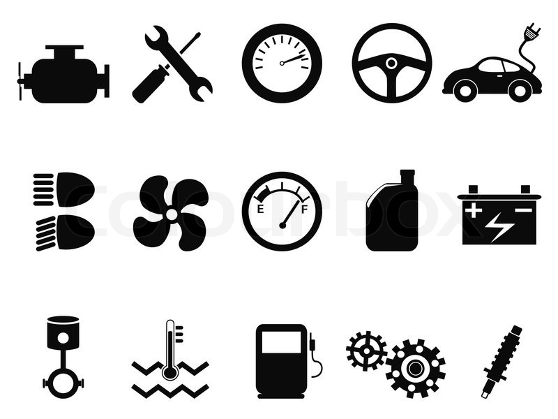Auto Motor Icons set   Vektorgrafik   Colourbox