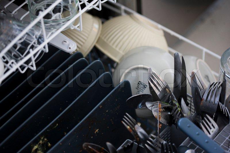 tageslicht, besteck, sauber  stockfoto  colourbox ~ Geschirrspülmaschine Dreckig