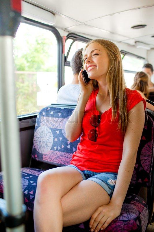 Geile Frau Im Bus