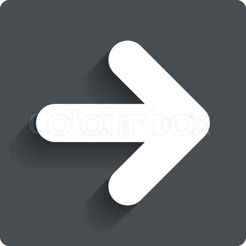 Arrow Sign Icon Next Button Navigation Symbol Gray Flat Button