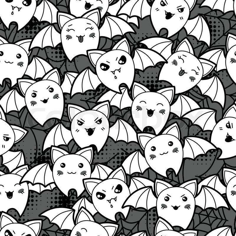 картинка много котиков черно белая находятся