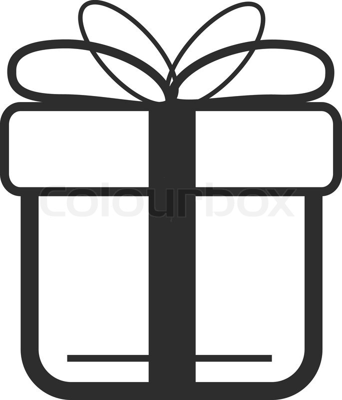 vektor schwarz geschenk symbol vektorgrafik colourbox. Black Bedroom Furniture Sets. Home Design Ideas