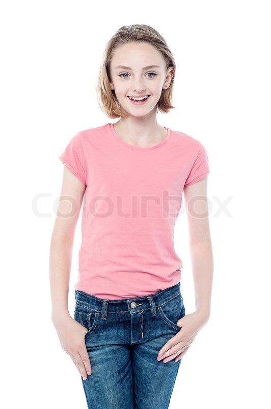Stilvolle junge hübsche Mädchen | Stock Bild | Colourbox