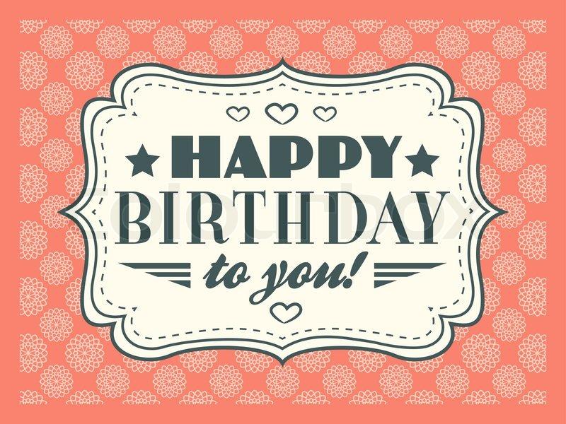 Happy Birthday Cards Retro Happy Birthday Card