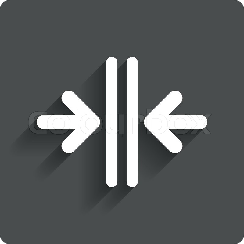 Das tür  Öffnen Sie das Tür-Schild-Symbol. Steuern im Aufzug | Vektorgrafik ...
