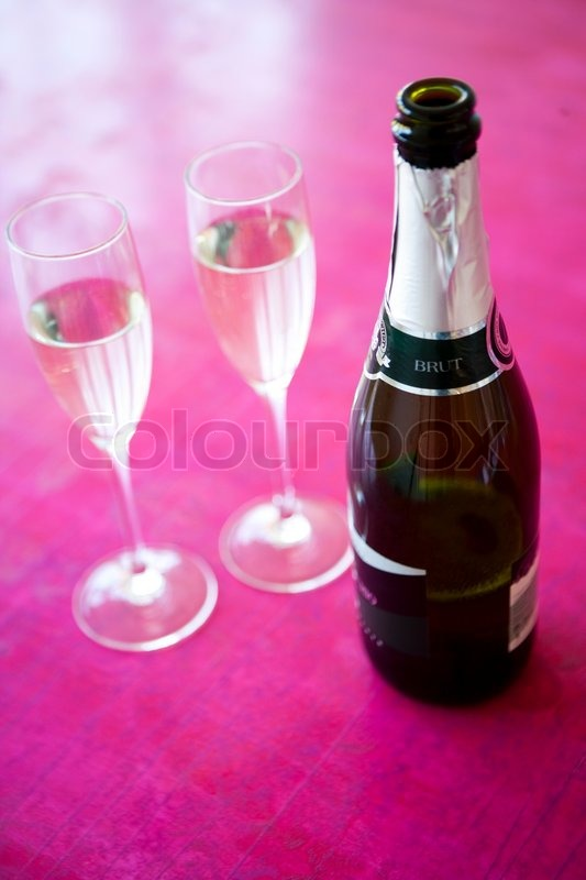 Champagne drink for New Year party, stock photo