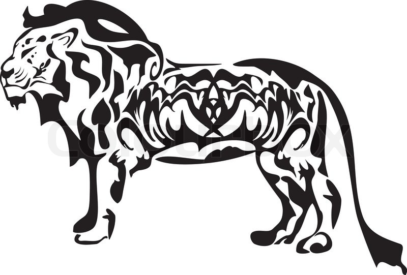 Tribal Lion Symbol Ready For Labels Stickers And T Shirt