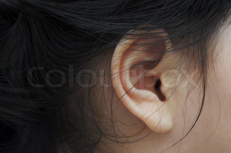 Close up ear, stock photo