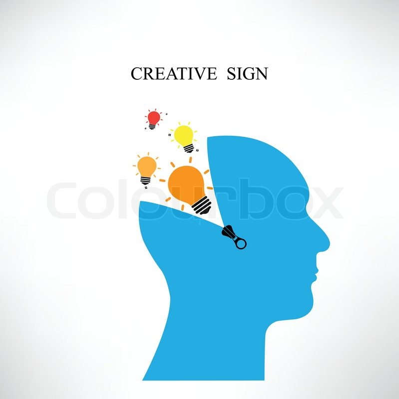 Creative Silhouette Head Background design For Poster