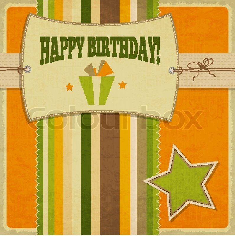 Happy Birthday Retro Images Retro Happy Birthday Card
