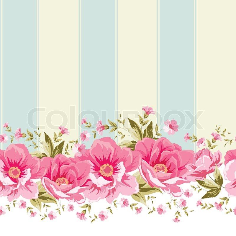 Ornate pink flower border with tile elegant vintage card design ornate pink flower border with tile mightylinksfo