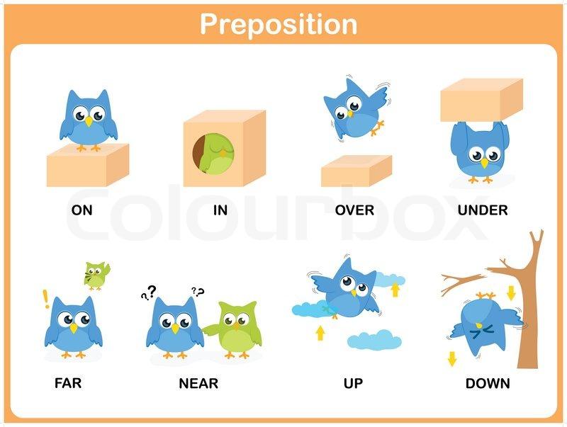 Präposition des Entschließungsantrags Vorschule | Vektorgrafik ...