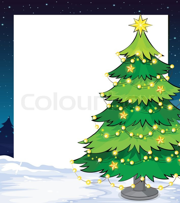Illustration Of An Empty Christmas Stock Vector Colourbox Pluto's christmas tree is a 1952 mickey mouse cartoon in which pluto and mickey cut down a christmas tree that chip n' dale live in. colourbox