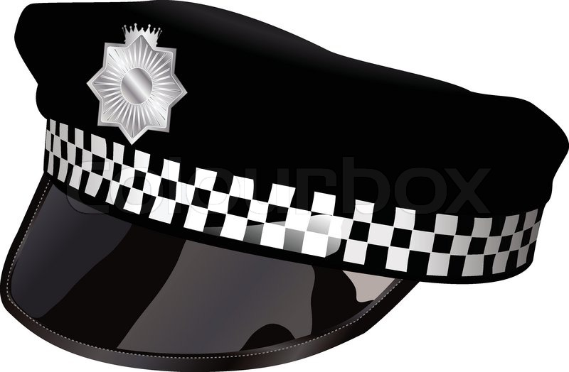 police hat stock vector colourbox