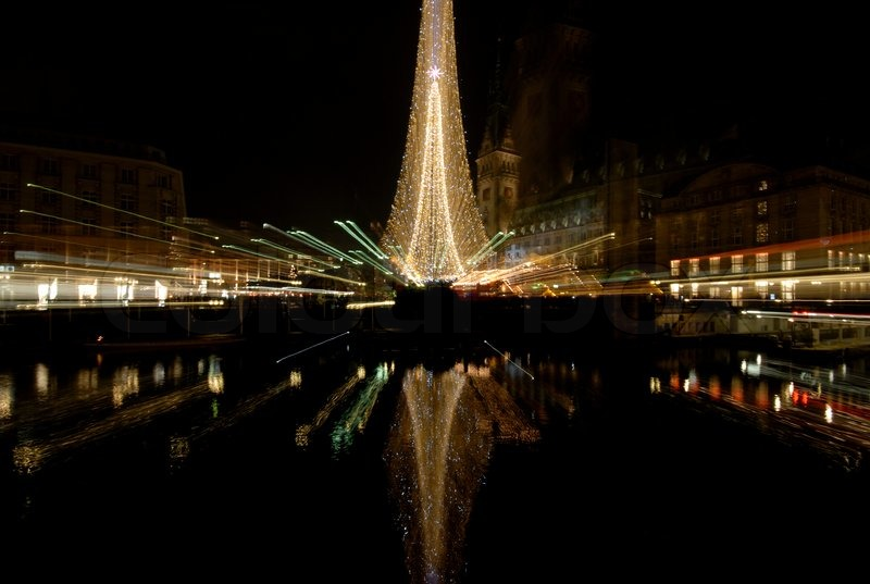 Stock image of 'Christmas Light in Hamburg, Germany'