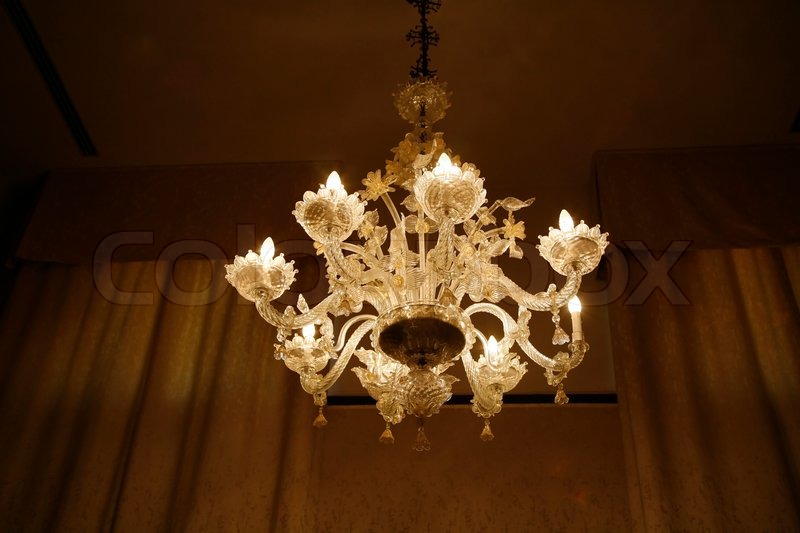 Antique venetian crystal chandelier stock photo colourbox antique venetian crystal chandelier stock photo aloadofball Images
