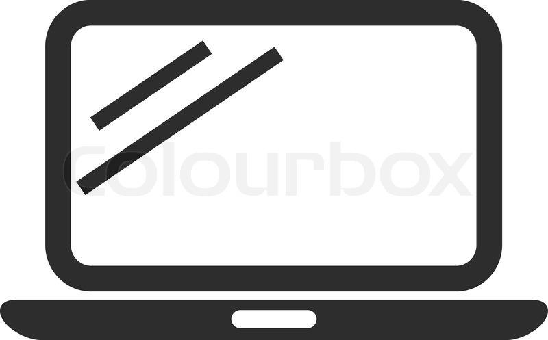vector laptop black icon stock vector colourbox