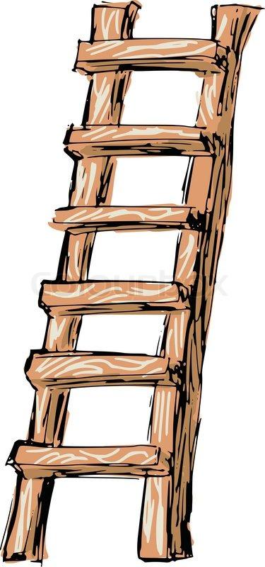 Sketch Doodle Hand Drawn Illustration Of Ladder Vector