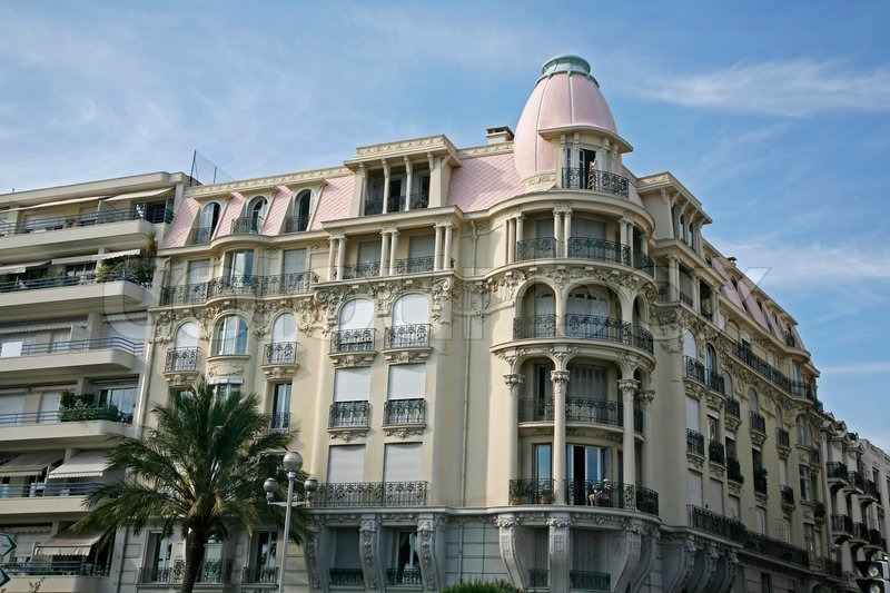 Expensive Apartment Building At The Waterfront Nice, France, Stock Photo