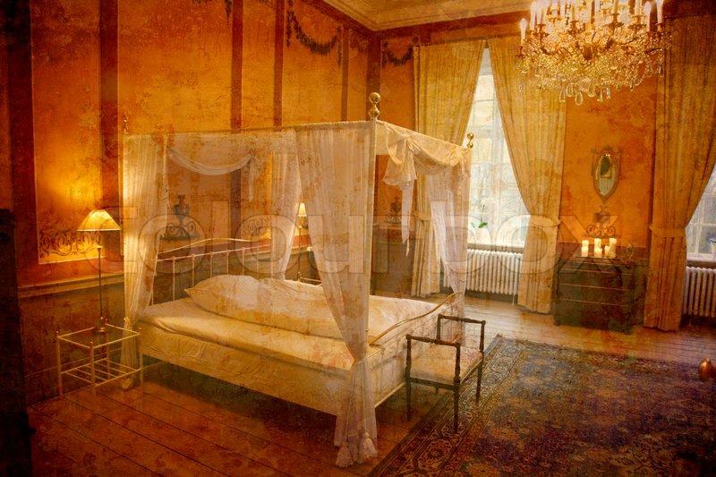 Künstlerische Arbeit meine eigene im retro Stil - Schlafzimmer - das ...