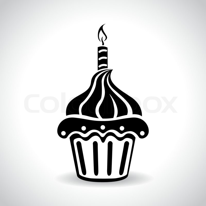 Birthday cake web icon vector symbol  Stock Vector  Colourbox