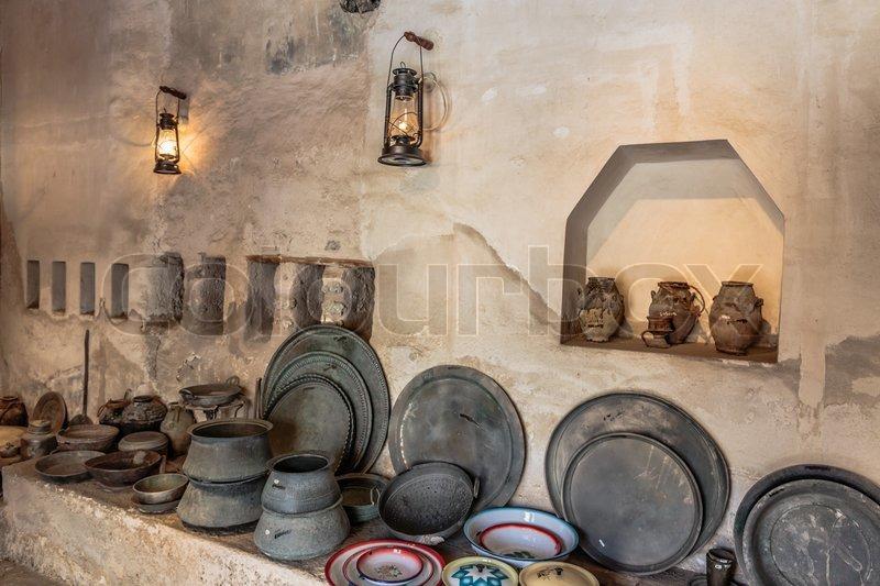 Antique Metal Kitchen Cart
