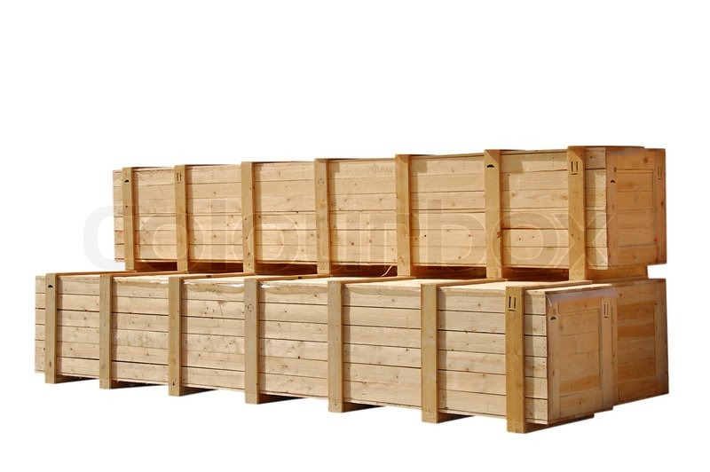 Wooden crates stock photo colourbox for Where to buy old crates