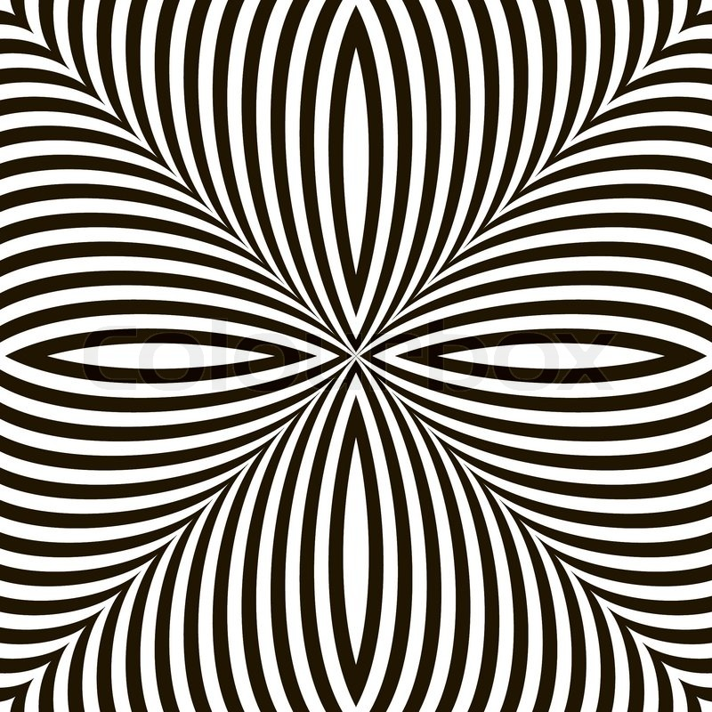 Line Design Op Art : Black and white geometric vector shimmering optical