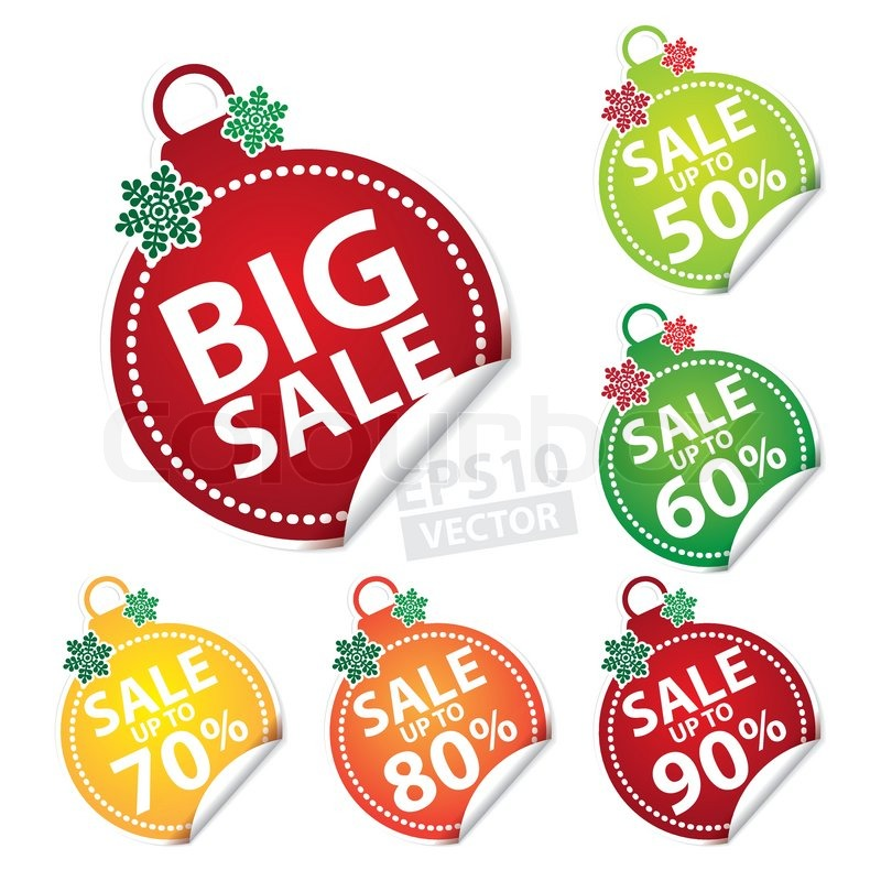 big sale christmas ball sticker tags with sale up to 50 90 percent