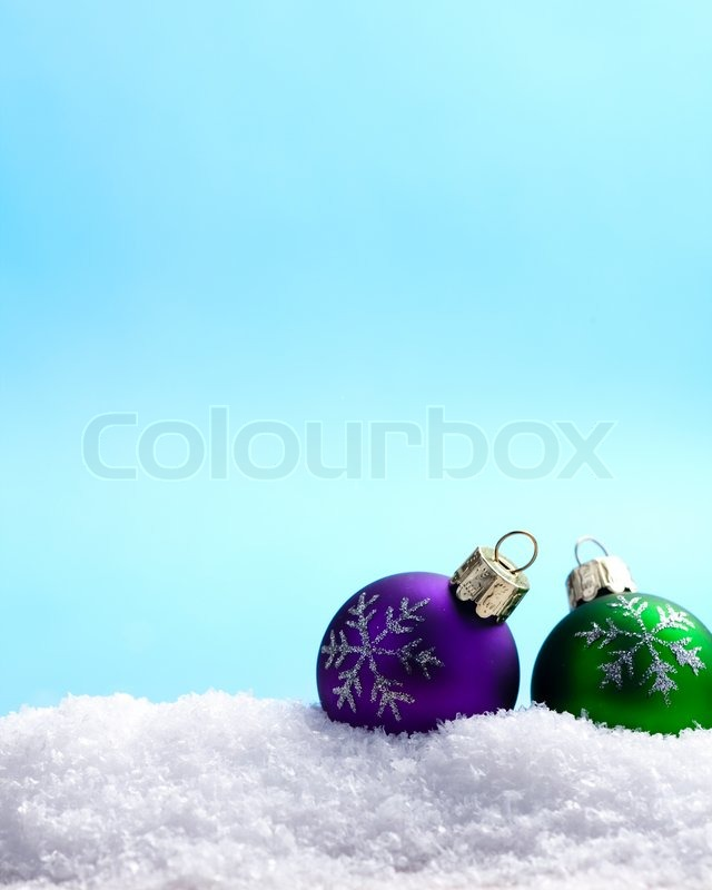 Stock image of 'christmas, decorations, snow'