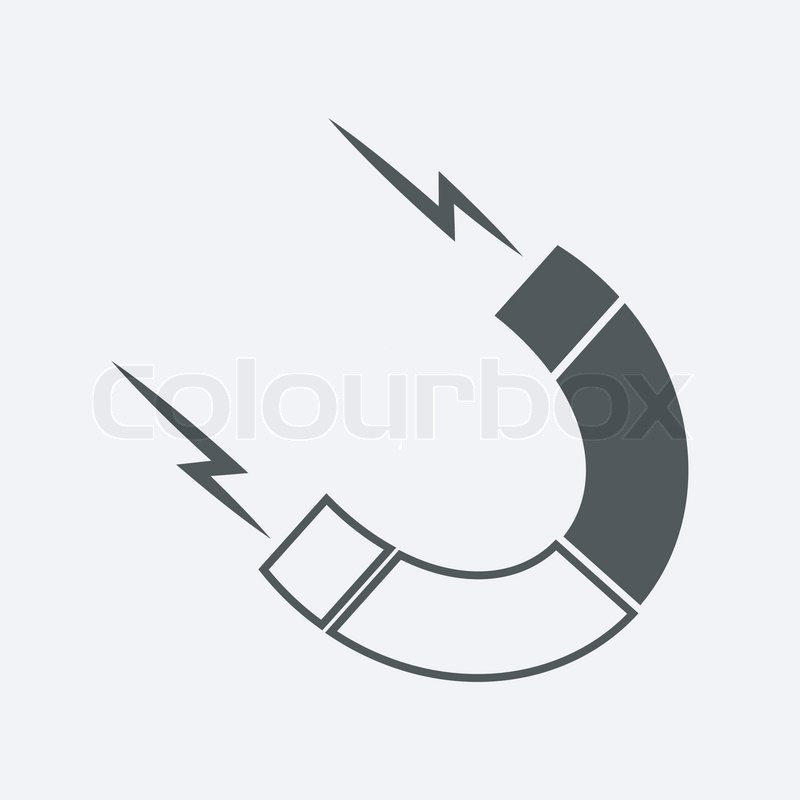 Magnet Symbol   Stock Vector   Colourbox
