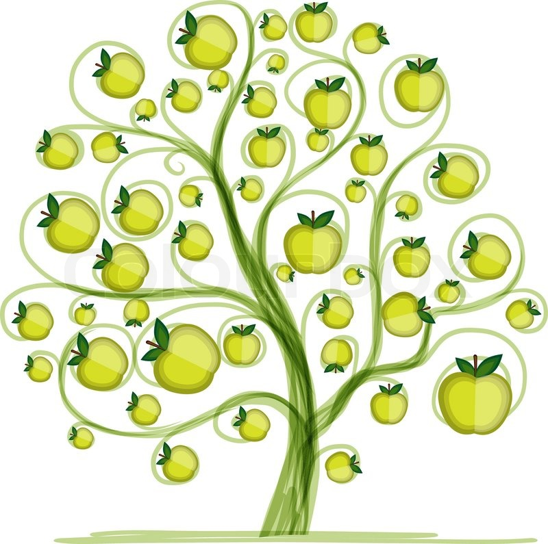 Apple Tree For Your Design Vector Stock Vector Colourbox
