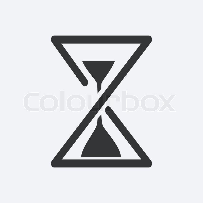 hourglass vector icon stock vector colourbox rh colourbox com hourglass vector graphic free hourglass vector free download