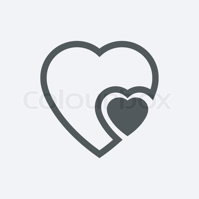 Human Heart Icons Signs Or Symbols For Love Simple Vector