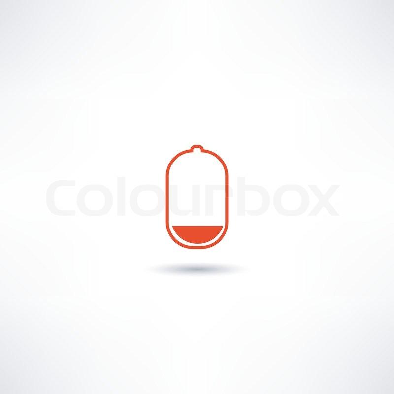 Batterie-leer-Symbol | Vektorgrafik | Colourbox