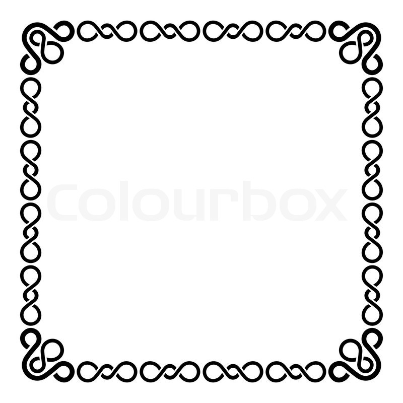 Calligraphic frame and page decoration curl border on for Decoration page