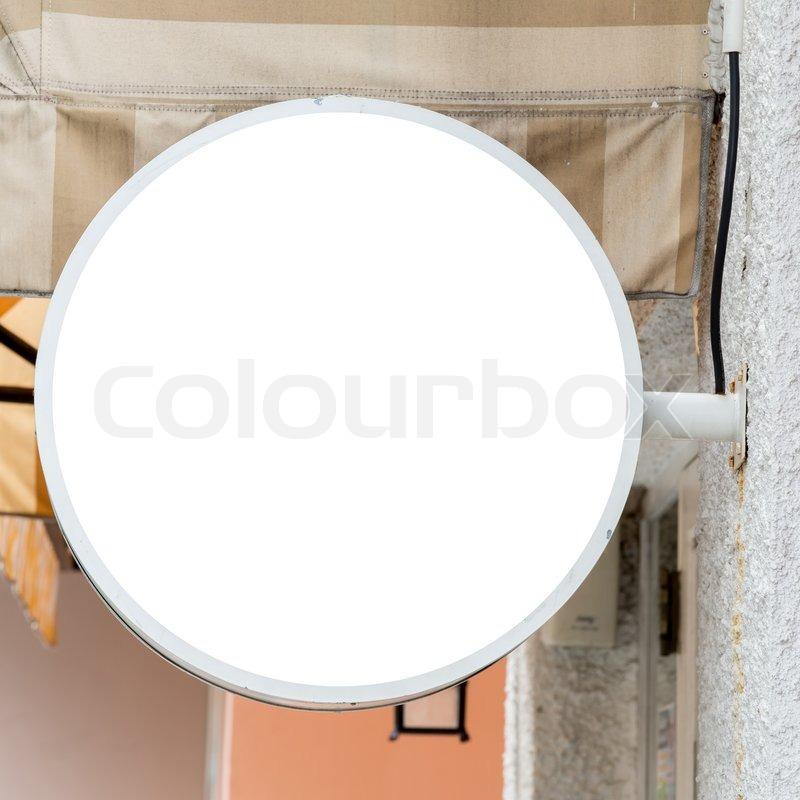 Blank Sign Board Blank Sign Board rd Stock Photo