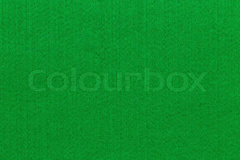 Poker Table. Green Felt Fabric Background
