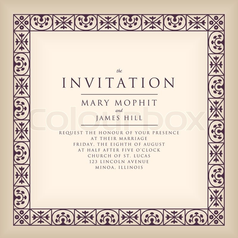 Wedding Invitation Artwork with perfect invitations template