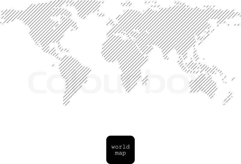 Striped world map isolated on white stock vector colourbox gumiabroncs Image collections