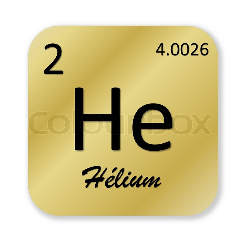 black helium element french into golden square shape isolated in periodic table helium periodic table symbol - Periodic Table Symbol Gold