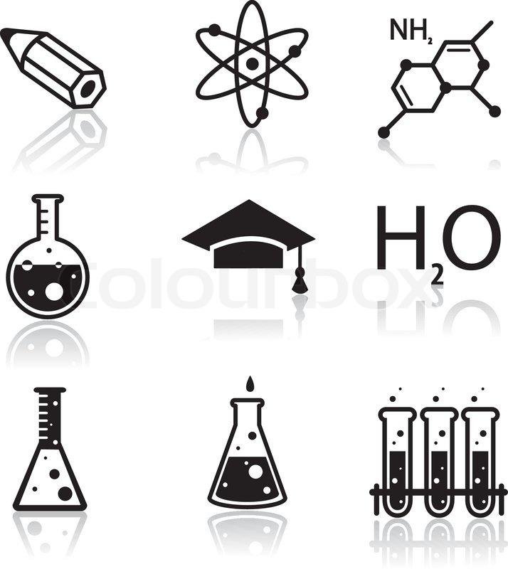 Chemie-Icons für Lern- und Web-Anwendungen | Vektorgrafik | Colourbox
