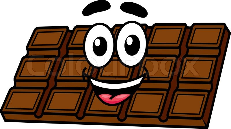 Cartoon Chocolate Character With Face Eyes Mouth And