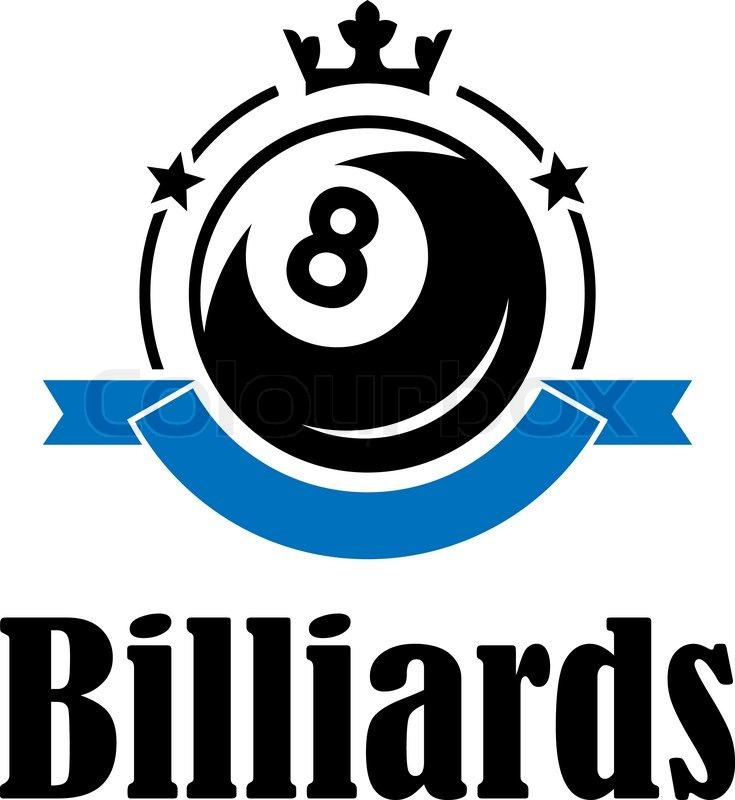 Billiards And Snooker Sports Emblem Stock Vector ...   Billiards Logo