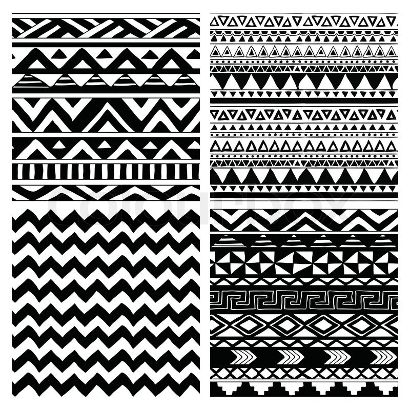 aztec stammes nahtlose vektorgrafik colourbox. Black Bedroom Furniture Sets. Home Design Ideas