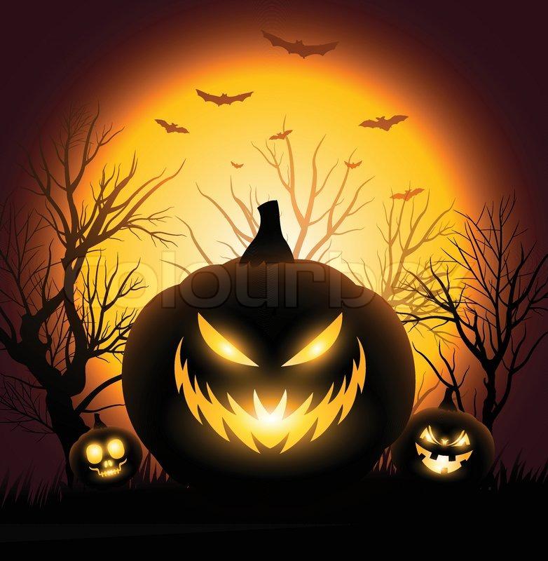 gruselige halloween k rbis gesicht exemplar hintergrund. Black Bedroom Furniture Sets. Home Design Ideas