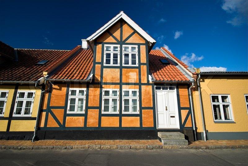 traditional danish house stock photo colourbox